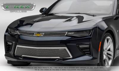 T-REX Grilles - 2016-2018 Camaro Upper Class Series Main Grille, Polished, 2 Pc, Overlay, V8 - PN #54035 - Image 2