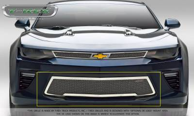 T-REX Grilles - 2016-2018 Camaro Upper Class Bumper Grille, Polished, 1 Pc, Overlay, V8 - PN #55036 - Image 2