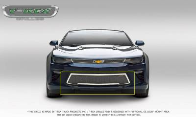 T-REX Grilles - 2016-2018 Camaro Upper Class Bumper Grille, Polished, 1 Pc, Overlay, V8 - PN #55036 - Image 3