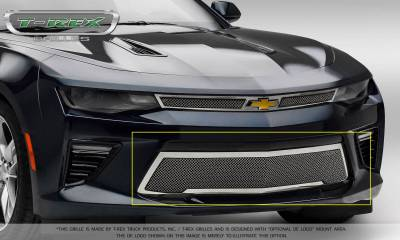 T-REX Grilles - 2016-2018 Camaro Upper Class Bumper Grille, Polished, 1 Pc, Overlay, V8 - PN #55036 - Image 7