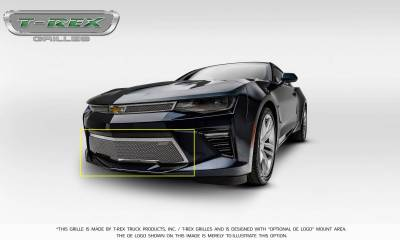 T-REX Grilles - 2016-2018 Camaro Upper Class Bumper Grille, Polished, 1 Pc, Overlay, V8 - PN #55036 - Image 8