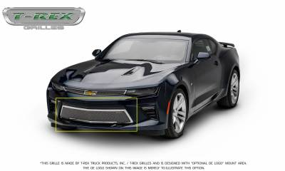 T-REX Grilles - 2016-2018 Camaro Upper Class Bumper Grille, Polished, 1 Pc, Overlay, V8 - PN #55036 - Image 10