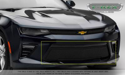 T-REX Grilles - 2016-2018 Camaro Upper Class Series Bumper Grille, Black, 1 Pc, Overlay, V8 - PN #52036 - Image 7