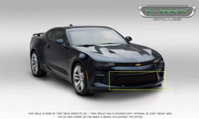 T-REX Grilles - 2016-2018 Camaro Upper Class Series Bumper Grille, Black, 1 Pc, Overlay, V8 - PN #52036 - Image 4