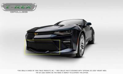 T-REX Grilles - 2016-2018 Camaro Upper Class Series Bumper Grille, Black, 1 Pc, Overlay, V8 - PN #52036 - Image 10