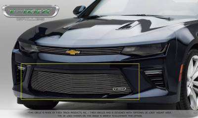 Billet Series Grilles - T-REX Chevrolet Camaro V8 -  Billet Series - Bumper Grille Overlay with Polished Steel Finish - Pt # 25036