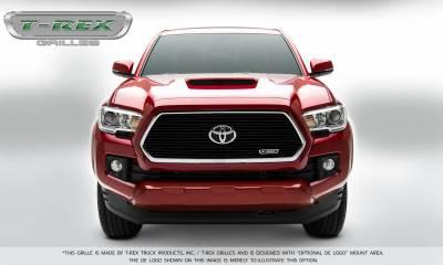 T-REX Grilles - Toyota Tacoma Laser Billet Grille Insert - All Black - Pt # 6219411