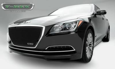 Upper Class Series Grilles - T-REX Grilles - Hyundai Genesis Sedan Upper Class Black Powder Coated Mesh Grille - Overlay - Pt # 51499