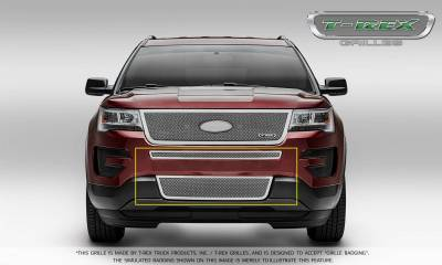 T-REX Grilles - 2016-2017 Explorer Upper Class Series Bumper Grille, Polished, 2 Pc, Overlay, Does Not Fit Vehicles with Camera - PN #55664 - Image 2