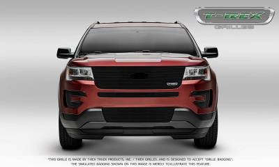 T-REX Grilles - 2016-2017 Explorer Laser Billet Grille, Black, 1 Pc, Replacement, with Logo Recess - PN #6216641 - Image 2