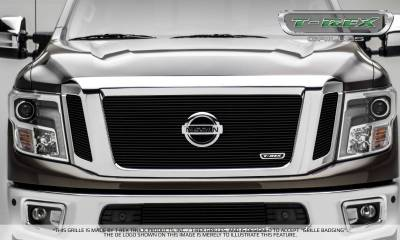 T-REX Grilles - 2016-2019 Titan Billet Grille, Black, 3 Pc, Insert, Fits Vehicles with Camera - PN #20785B - Image 4
