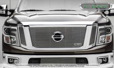 T-REX Grilles - 2016-2019 Titan Billet Grille, Polished, 3 Pc, Insert, Fits Vehicles with Camera - PN #20785 - Image 4