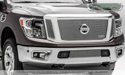 T-REX Grilles - 2016-2019 Titan Billet Grille, Polished, 3 Pc, Insert, Fits Vehicles with Camera - PN #20785 - Image 5
