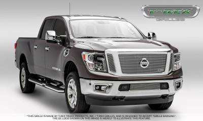 T-REX Grilles - 2016-2019 Titan Billet Grille, Polished, 3 Pc, Insert, Fits Vehicles with Camera - PN #20785 - Image 6