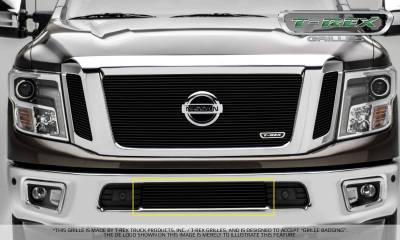 Billet Series Grilles - Nissan Titan - Billet Series - Bumper Grille Overlay - Black - Pt # 25785B
