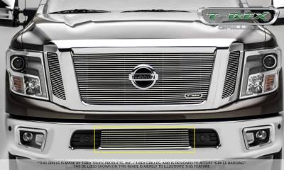 Billet Series Grilles - Nissan Titan - Billet Series - Bumper Grille Overlay - Polished - Pt # 25785
