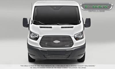 Billet Series Grilles - Laser Billet Grilles - T-REX Ford Transit Van - Laser Billet - Main Grille - Insert w/ Logo - Polished Finish - Pt # 6205750