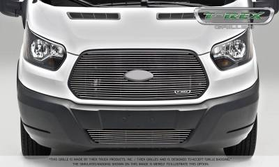 T-REX Grilles - 2016-2018 Ford Transit Billet Grille, Polished, 1 Pc, Replacement - PN #6205750 - Image 2