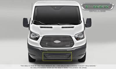 Billet Series Grilles - Laser Billet Grilles - T-REX Ford Transit Van - Laser Billet - Bumper Grille - Overlay - Polished Finish - Pt # 6255750
