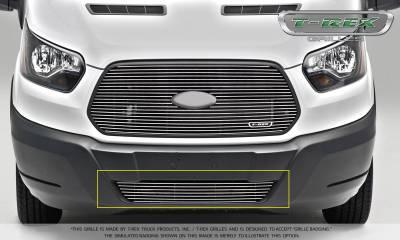 T-REX Grilles - 2016-2018 Ford Transit Billet Bumper Grille, Polished, 1 Pc, Overlay - PN #6255750 - Image 2
