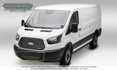 T-REX Grilles - 2016-2018 Ford Transit Billet Bumper Grille, Polished, 1 Pc, Overlay - PN #6255750 - Image 3