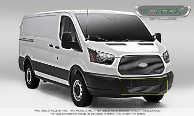 T-REX Grilles - 2016-2018 Ford Transit Billet Bumper Grille, Polished, 1 Pc, Overlay - PN #6255750 - Image 4