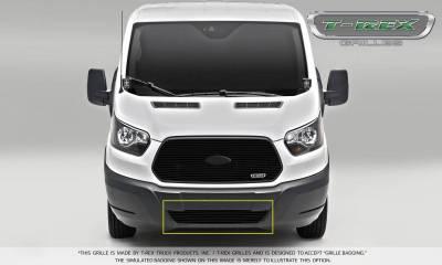 Billet Series Grilles - Laser Billet Grilles - T-REX Ford Transit Van - Laser Billet - Bumper Grille - Overlay - Black Finish - Pt # 6255751