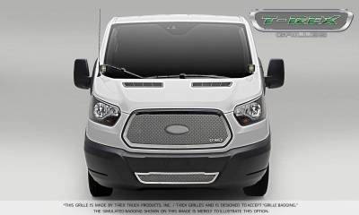 T-REX Grilles - 2016-2018 Ford Transit Upper Class Grille, Polished, 1 Pc, Insert - PN #54575 - Image 1