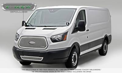 T-REX Grilles - 2016-2018 Ford Transit Upper Class Grille, Polished, 1 Pc, Insert - PN #54575 - Image 3