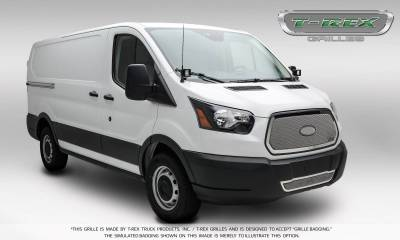 T-REX Grilles - 2016-2018 Ford Transit Upper Class Grille, Polished, 1 Pc, Insert - PN #54575 - Image 4