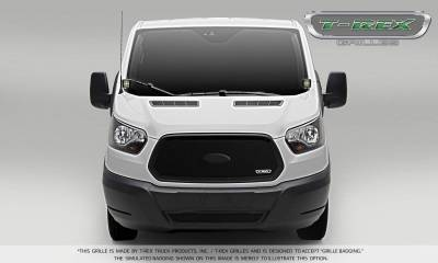 T-REX Grilles - 2016-2018 Ford Transit Upper Class Grille, Black, 1 Pc, Insert - PN #51575 - Image 1