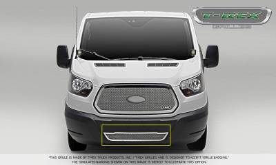 Upper Class Series Grilles - T-REX Grilles - Ford Transit Van - Upper Class - Bumper Grille - Overlay - Polished Finish - Pt # 55575