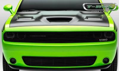 T-REX Grilles - 2015-2019 Challenger Billet Bumper Grille, Black, 1 Pc, Overlay - PN #25419B - Image 8