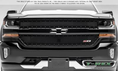 T-REX Grilles - 2016-2018 Silverado 1500 Z71 Stealth X-Metal Grille, Black, 2 Pc, Insert, Black Studs - PN #6711241-BR - Image 4