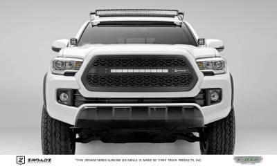ZROADZ Series Grilles - T-REX Grilles - Toyota Tacoma - ZROADZ Series - Main Insert - Grille w/ One 20 Inch Slim Line Single Row LED Light Bar - Part# Z319411