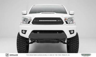 ZROADZ Series Grilles - T-REX Grilles - Toyota Tacoma - ZROADZ Series - Main Insert - Grille w/ One 20 Inch Slim Line Single Row LED Light Bar  - Part# Z319381