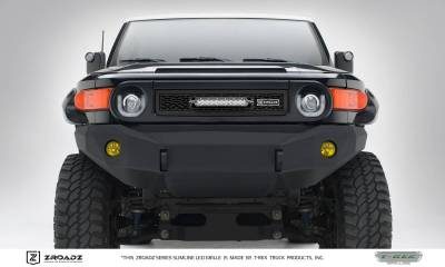 T-REX Grilles - 2007-2014 Toyota FJ Cruiser Main Grille, Including (1) 10 Inch ZROADZ LED Straight Single Row Slim Light Bar - Z319321