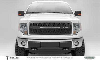 ZROADZ Series Grilles - T-REX Grilles - Ford F150 - ZROADZ Series - Main Insert - Grille w/ One 20 Inch Slim Line Single Row LED Light Bar - Includes Universal Wiring Harness - Part# Z315681