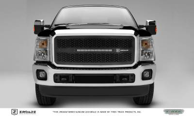 "T-REX Grilles - 2011-2016 Super Duty ZROADZ Grille, Black, 1 Pc, Insert, Incl. (1) 20"" LED - PN #Z315461"