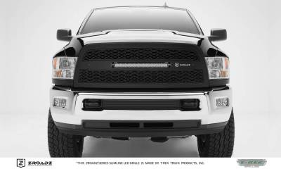 "T-REX Grilles - 2013-2018 Ram 2500, 3500 ZROADZ Grille, Black, 1 Pc, Replacement, Incl. (1) 20"" LED - PN #Z314521 - Image 1"