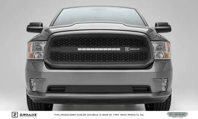 ZROADZ Series Grilles - T-REX Grilles - Dodge Ram 1500 - ZROADZ Series - Main Insert - Grille w/ One 20 Inch Slim Line Single Row - Includes Universal Wiring Harness - Part# Z314581