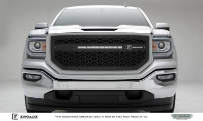 ZROADZ Series Grilles - T-REX Grilles - GMC Sierra 1500 - ZROADZ Series - Main Insert - Grille w/ One 20 Inch Slim Line Single Row LED Light Bar  - Part# Z312131