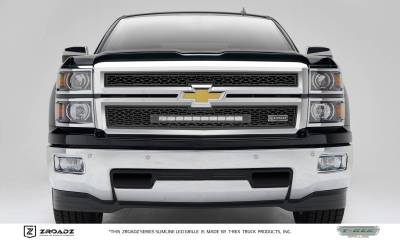 ZROADZ Series Grilles - T-REX Grilles - Chevrolet Silverado 1500 - ZROADZ Series - 2PC Main Insert - Grille w/ One 20 Inch Slim Line Single Row LED Light Bar - Part# Z311211