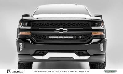 ZROADZ Series Grilles - T-REX Grilles - Chevrolet Silverado 1500 - ZROADZ Series - 2 PC Main Insert - Grille w/ One 20 Inch Slim Line Single Row LED Light Bar - Part# Z311281