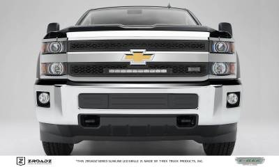 ZROADZ Series Grilles - T-REX Grilles - Chevrolet Silverado 2500/3500 HD - ZROADZ Series - Main 2 PC Insert - Grille w/ One 20 Inch Slim Line Single Row LED Light Bar - Part# Z311221
