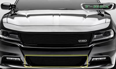 Billet Series Grilles - Dodge Charger - Laser Billet w/ 3-D Conturing - 1 Pc Bumper Grille - Overlay - Black Finish - Pt # 6224761