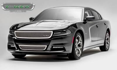 Upper Class Series Grilles - Dodge Charger - Upper Class - 1 Pc Main Grille - Overlay/Insert - Polished Stainless Steel - Pt # 54480