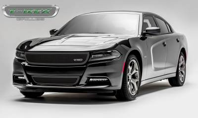 Upper Class Series Grilles - Dodge Charger - Upper Class - 1 Pc Main Grille - Overlay/Insert - Black Powder Coated - Pt # 51480
