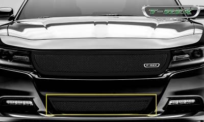 T-REX Grilles - Dodge Charger - Upper Class - 1 Pc Bumper Grille - Overlay - Black Finish - Pt # 52480