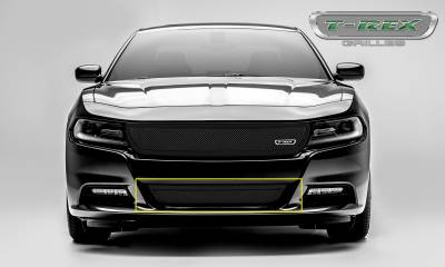 T-REX Grilles - 2015-2019 Charger Upper Class Bumper Grille, Black, 1 Pc, Overlay - PN #52480 - Image 2